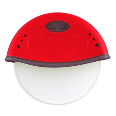Dexas One Handed Rolling Pizza Cutter, Red