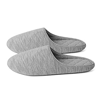 Amazon.com | BCSTUDIO Women's Cozy Memory Foam Slippers with Knitted Cotton Design, Breathable House Shoes for Indoor&Ourdoor Use, Non-Slip Rubber Sole | Slippers