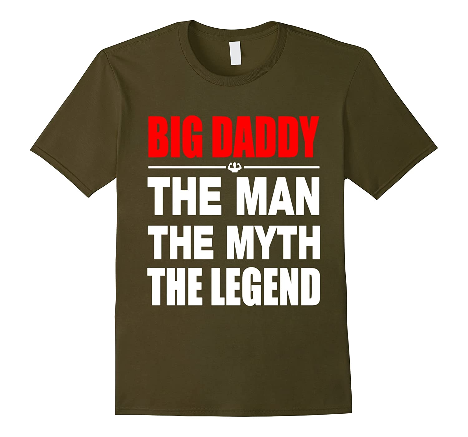 Mens Big Daddy The Man The Myth The Legend T Shirt Gift-TH