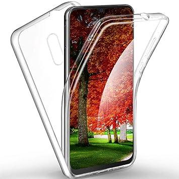 XCYYOO Funda para LG K40 Silicona,Carcasas[Carcasa Protectora 360 Grados Full Body] Transparente Suave Ultrafina Gel Silicona TPU+PC Anti-Choque Anti-Arañazos Protectora Case: Amazon.es: Electrónica