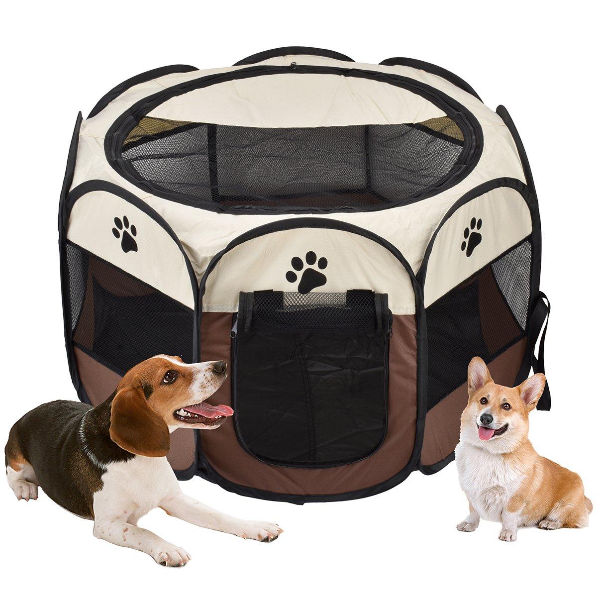 Parc de chien de Vovoly, parc pliable imperméable pliable de cage de Protable, utilisation d'intérieur et extérieure - 70cm x 45cm