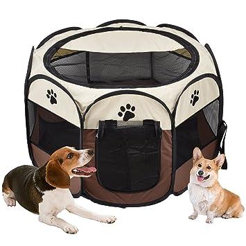 Vovoly Dog Playpen, protable plegable lavable a prueba de agua Jaula Playpen, uso en interiores y al aire libre - 70cm x 45cm: Amazon.es: Productos para ...