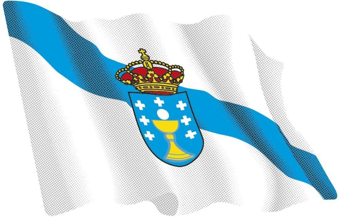Artimagen Adesivo Bandiera ondeante Galicia grande 110/x 80/mm