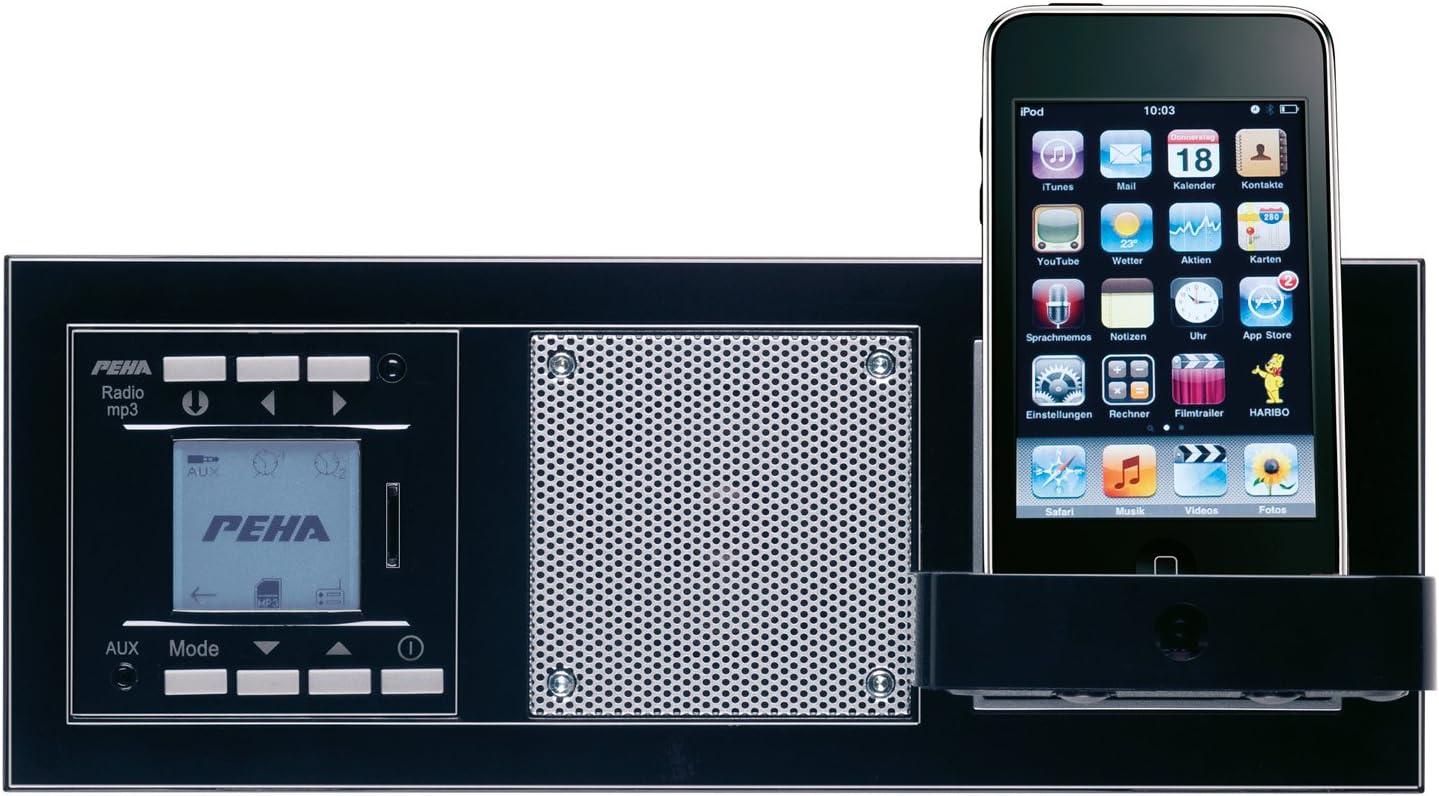 Peha Radio lecteur MP3 encastrable AudioPoint design Nova sans /émetteur Noir piano