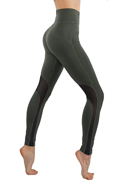 495e31e80763 Amazon.com  CodeFit Power Flex Yoga Pants Dry-Fit Workout Leggings Mesh  Cutouts High Waist Tummy Control Sexy!1  Clothing