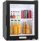 Klarstein • MKS-12 • Minibar • Mini-Kühlschrank • Getränkekühlschrank • A • 24 Liter • geringer Energieverbrauch • ca.38 x 47 x 38 cm (BxHxT) • leiser Betrieb • 0 dB • 1 Regaleinschub • Glastür • 3-stufiger Temperaturregler • matt-schwarzes Gehäuse • schwarz