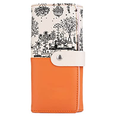 Bikifree Women Gift Clutch Wallet PU Leather Print Purses Hasp Long Wallet Female Money Bags Handbag