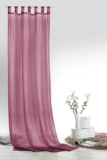 Fashion&Joy - Schlaufenschal Voile Beere HxB 245x140 cm - transparent einfarbig - Dekoschal Gardine Typ418