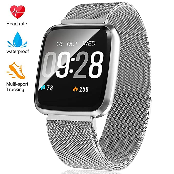 Fitness Tracker - Activity Tracker with Step Counter - Waterproof SmartWatch with Heart Rate Monitor - Fit Watch Sleep Monitor Step Counter for Android & iPhone best fitness tracker watches