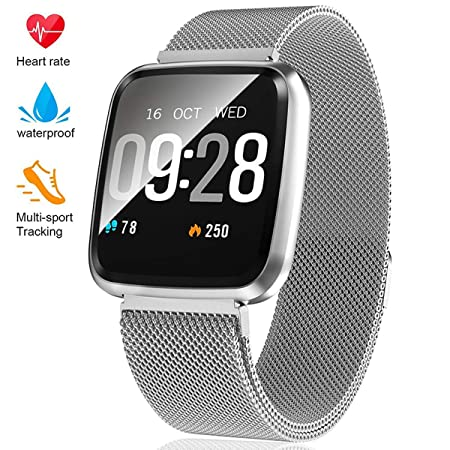 Fitness Tracker – Activity Tracker with Step Counter – Waterproof SmartWatch with Heart Rate Monitor – Fit Watch Sleep Monitor Step Counter for Android iPhone