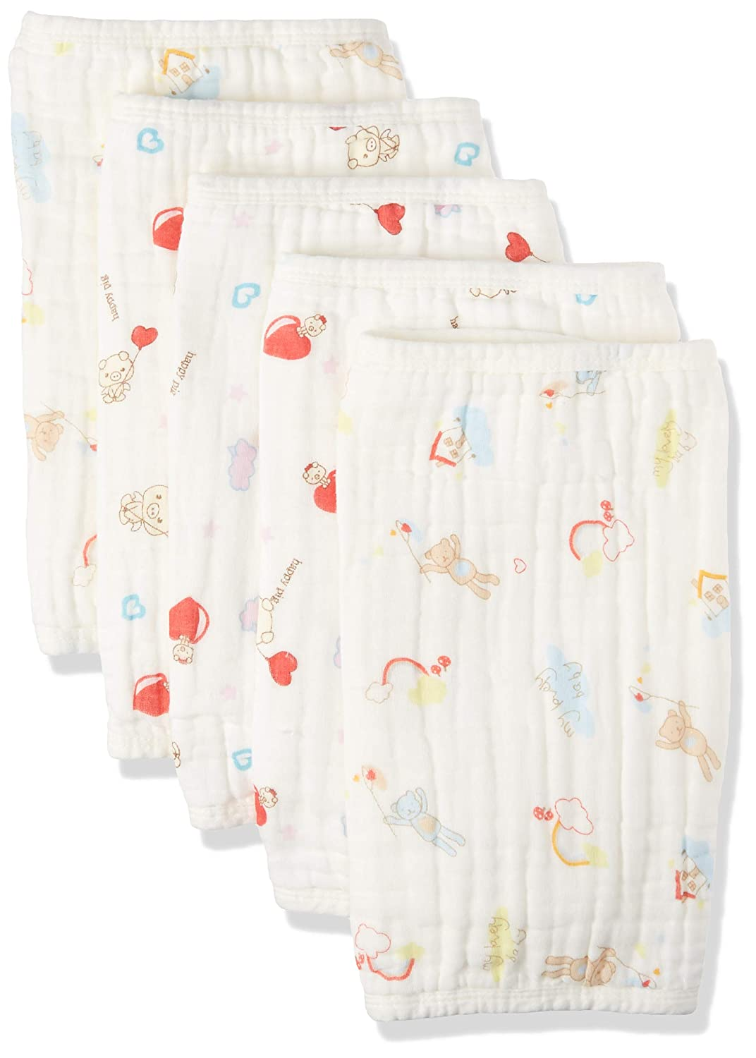 KOROTUS Muslin Baby Burp Cloths Washcloths Face Towels 4-Pack Extra Large 13.77X13.77 inches 12 Layers Super Absorbent Premium Soft Natural for Sensitive Skin Baby 100/% Organic Cotton