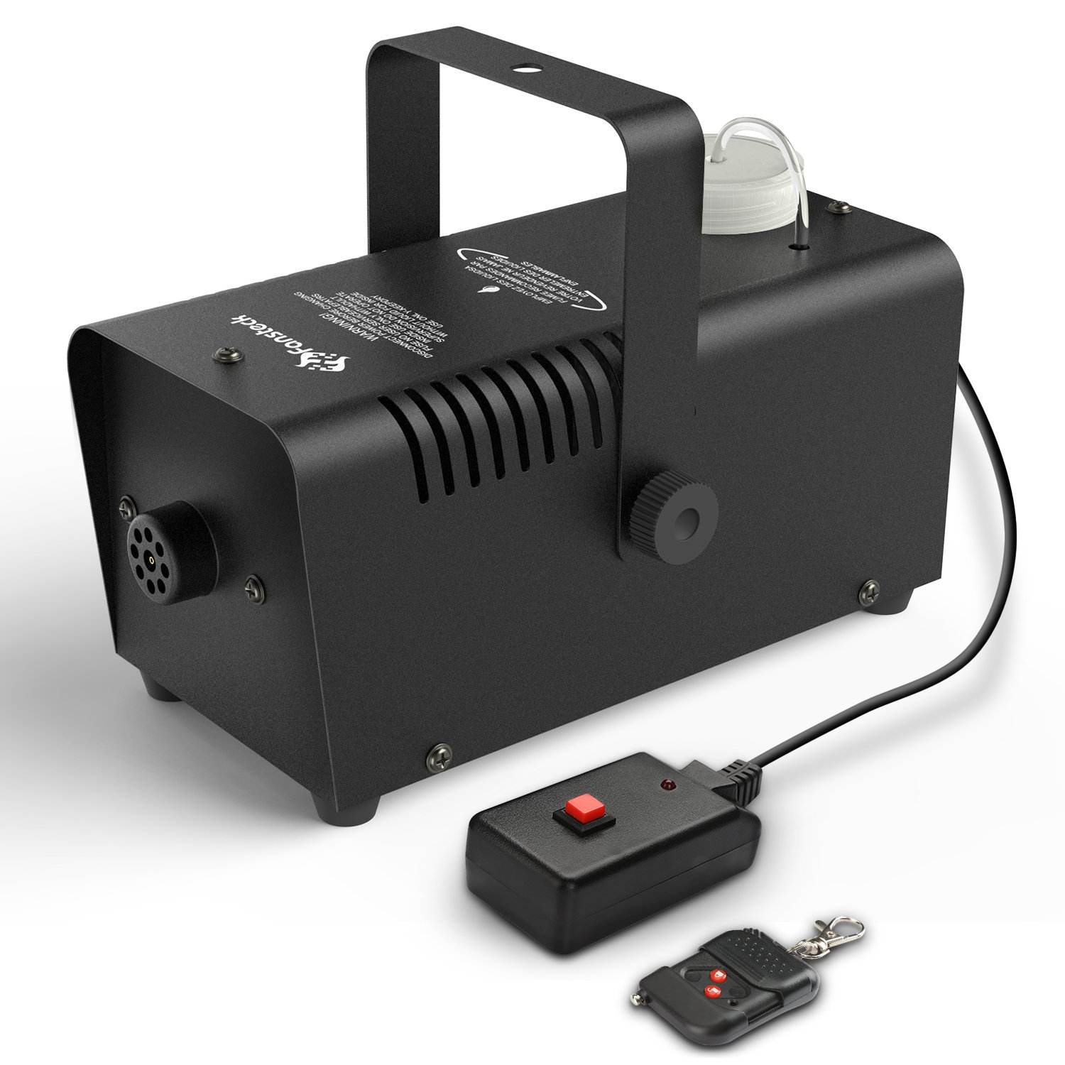 Halloween Fog Machine - Fansteck Professional Wireless Remote Control Portable Smoke Machine for Holidays Parties Weddings - Quick Generation of Huge Fog 2000 CFM, with Fuse Protection - Metal Black by Fansteck