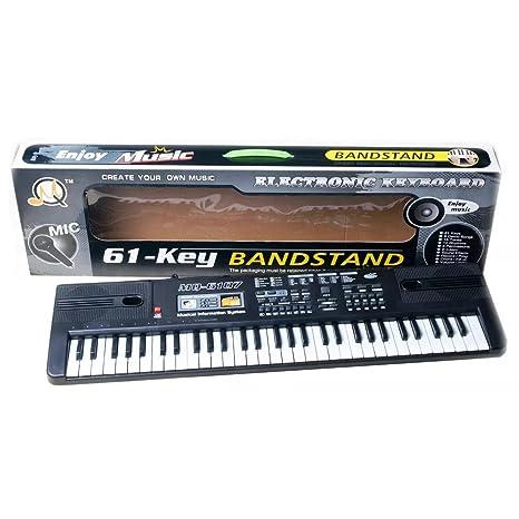 Foxom Piano Infantil 61 Teclas Piano Electrico Teclados con Micrófono Piano Juguete Musical Regalo para Niños