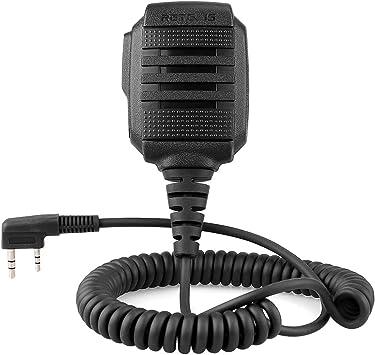 Retevis 2 Pine Micrófono Altavoz de Walkie Talkie IP54 Impermeable Compatible con Walkie Talkies RT5R RT24 RT27 RT81 Baofeng UV-5R BF-888S Kenwood TYT HYT WOUXUN (1 Pack): Amazon.es: Electrónica