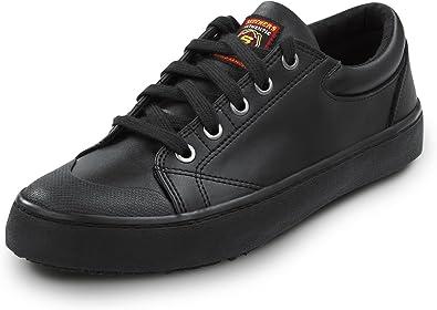federación Compañero estoy de acuerdo  Amazon.com   Skechers Women's Kendall Black Leather Soft Toe Slip Resistant Skate  Shoe   Shoes