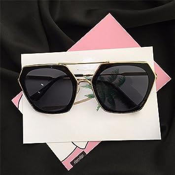 LXKMTYJ Retro Persönlichkeit Dünne Dame Quadratische Sonnenbrille, Schwarz