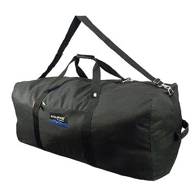 Heavy Duty Square Cargo Duffel 42 Inch Jumbo Football Ball Gear Bag Large Hockey Equipment Bag Sport Duffle Travel Bag Rooftap Rack Bag-Black