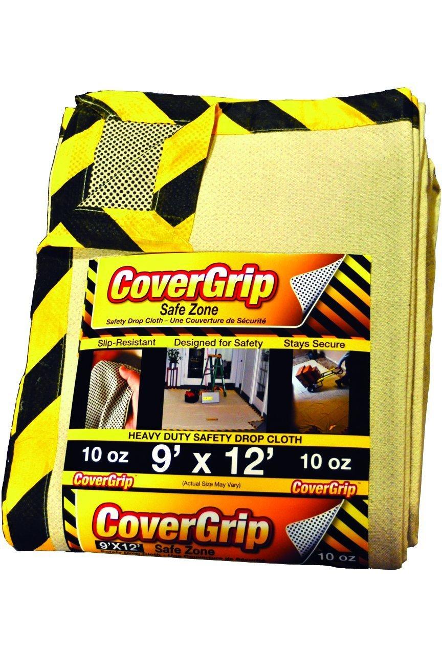CoverGrip 005808 8 oz Canvas Safety Drop Cloth, 5' x 8' 5' x 8'