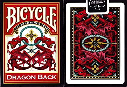 DRAGON BACK BICYCLE DECK GREEN EDITION PLAYING CARDS POKER SIZE MAGIC TRICKS