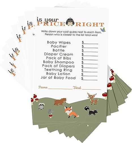 Woodland Baby Shower Games Forest Animals Baby Shower Games ALL 8 GAMES INCLUDED Woodland Baby Shower Woodland Animals Baby Shower Games