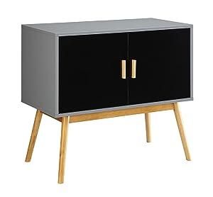 Convenience Concepts Oslo Storage Cabinet, Gray/black