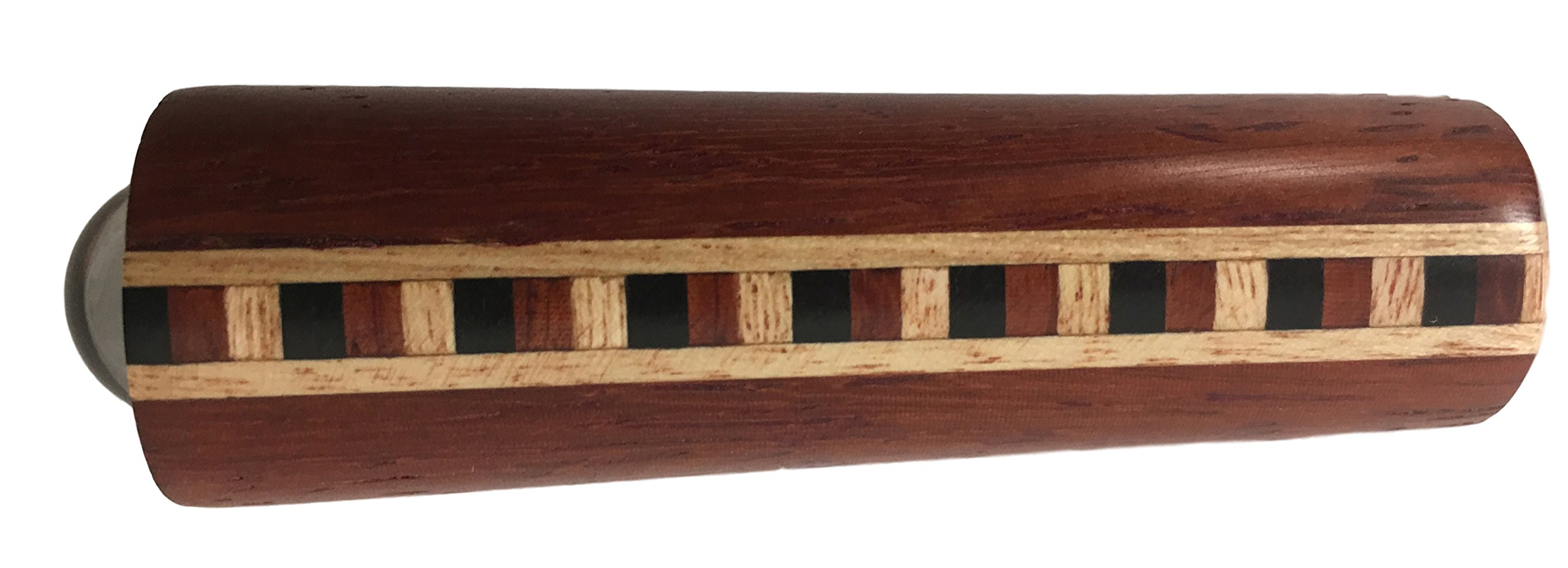 N & J Kaleidoscope Teleidoscope in Solid Padauk Wood, Mini 3 Inch, Inlaid Padauk, Ebony, and Jalneem by N & J