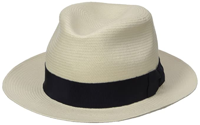 Hickey Freeman Men s Toyo Straw Fedora Hat at Amazon Men s Clothing ... 5d4d7f5395a