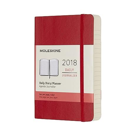 Moleskine Agenda 2018 diaria Pocket Tapa blanda rojo Cod ...