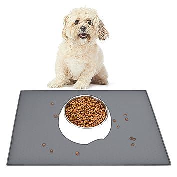 HOGAR AMO Futtermatte mit Rand Hund und Katze Lebensmittel Grade Silikon Napfunterlage Wasserdicht & Rutschfest Haustier Matt