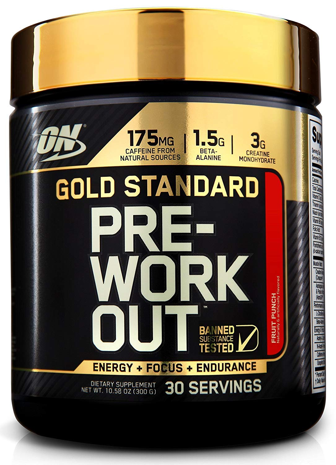 OPTIMUM NUTRITION Gold Standard Pre-Workout with Creatine, Beta-Alanine, and Caffeine for Energy, Keto Friendly, Fruit Punch, 30 Servings by Optimum Nutrition