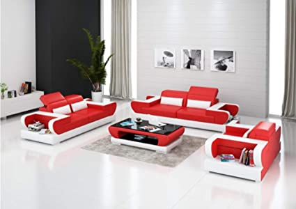 Amazon.com: Modern Luxury Märtha Sofa Group 3 + 2 + 1 ...