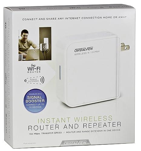 Amazon crystalview portable wireless instant router repeater crystalview portable wireless instant router repeater and range extender for computers tablets smart keyboard keysfo Images