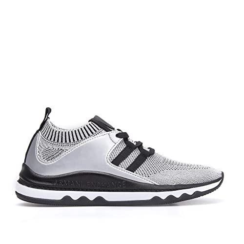 Zapatilla ARMANI EXCHANGE Silver/Black T-36: Amazon.es: Zapatos y complementos
