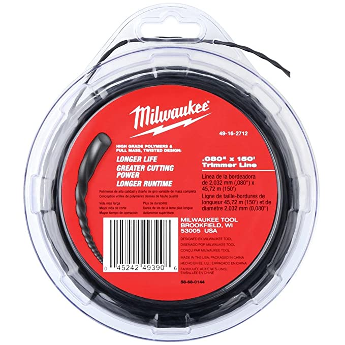 Milwaukee Electric Tool .080 150 línea de cortacésped ...