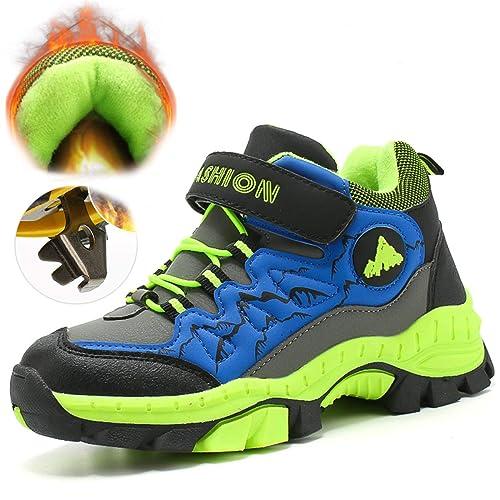 4ad2ea8d74cbc Confortable Randonnée en Plein air Trekking étanche Garçons Filles Griffe  en Acier Chaussures en Coton Enfants