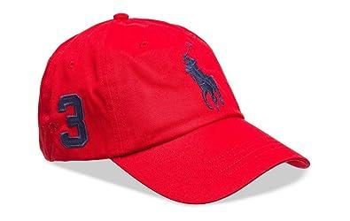 dce9c7c8d09 Ralph Lauren Casquette Bonnet - Casquette Rouge Gros Logo Marine ...