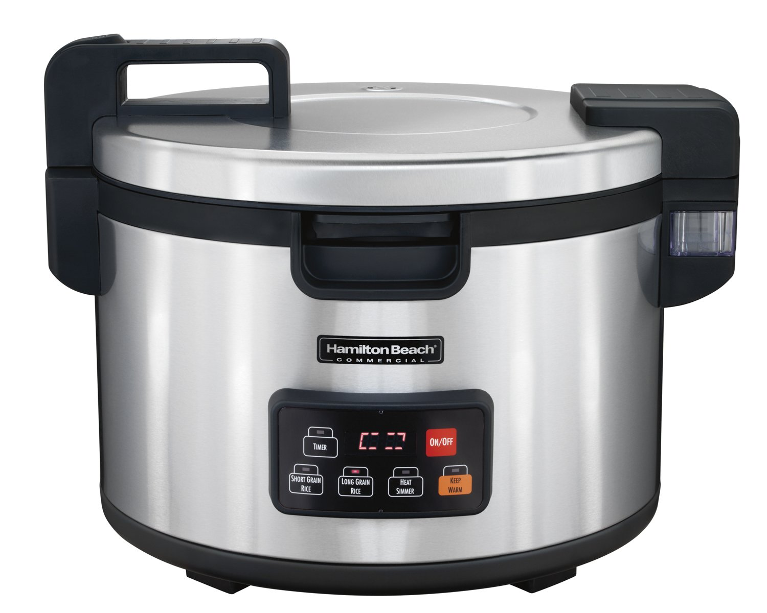 Hamilton Beach Commercial 90 Cup Rice Cooker, Warmer, Stainless Steel (37590)