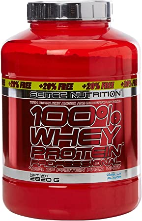 Scitec Nutrition - 100% Whey Protein Professional - 2,8 kg (20% gratis) - Vainilla