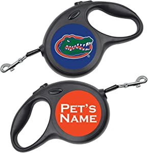 InstaPetTags NCAA Licensed Retractable Dog Walking Leash | Personalized for Your Pet