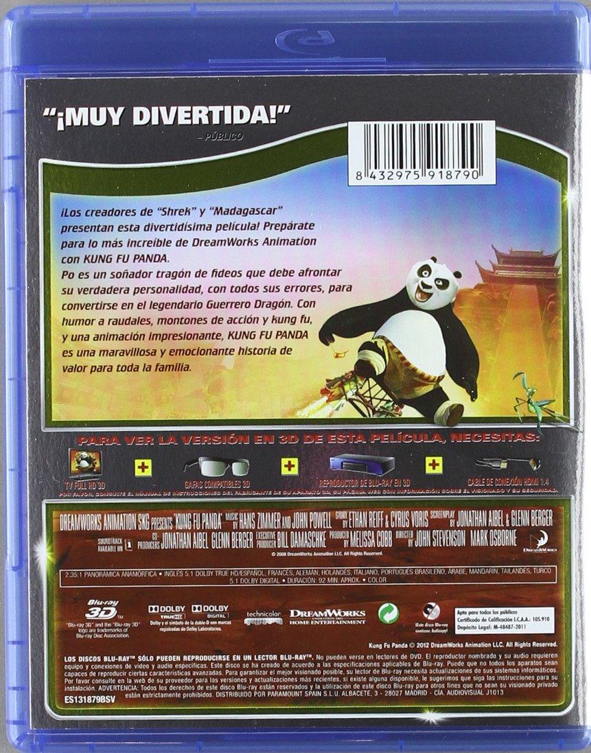 Amazon.com: Kung Fu Panda (Bd 3d) (Blu-Ray) (Import Movie ...