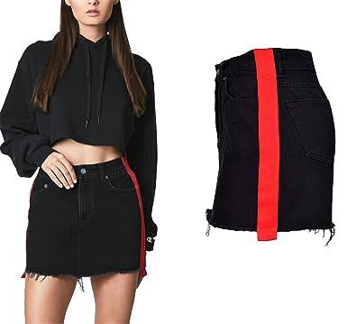 6150568e6dc JINGJQINGCAO Skirts Jingjqingcao Women Fashion Cotton Denim Skirt ...