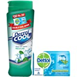 Dermicool Regular Deodorants - 150 g with Free Dettol Cool Soap - 75 g