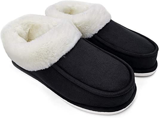 Women Ladies Warm Soft Light Winter Indoor Slip On Slippers Size UK3-7 Blue Grey
