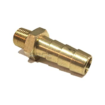 1//card Brass Push-On Hose Fitting 1//8-27 NPT Male 1//4 Hose