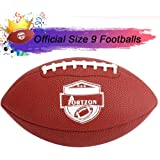 Portzon Football Composite Football Official Size 9 Super Grip for Training & Recreation Play