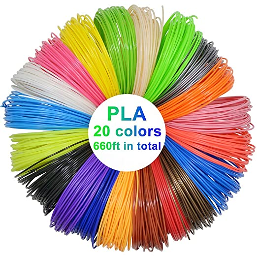 Filamento PLA 3D para rotuladores, 1,75 mm, 10 m, 20 colores, para ...