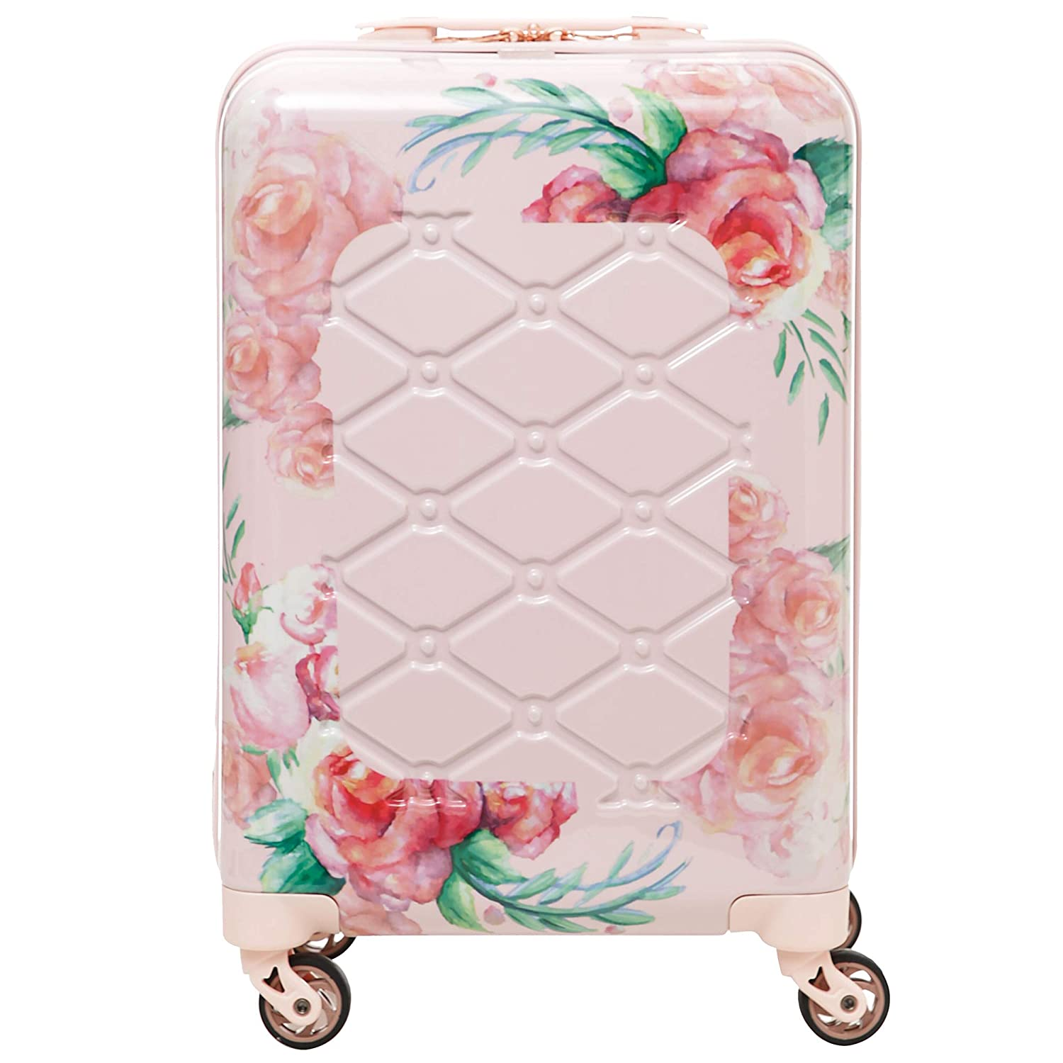Aerolite Premium Hard Shell 4 Wheel Carry On Hand Cabin Luggage Suitcase, Approved for Virtually All Major Airlines, Rose Blush