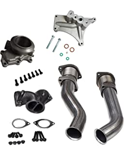 BLACKHORSE-RACING Powerstroke Turbo Diesel Hardware Bellowed Up Pipe Kit 1999-2003 Ford 7.3