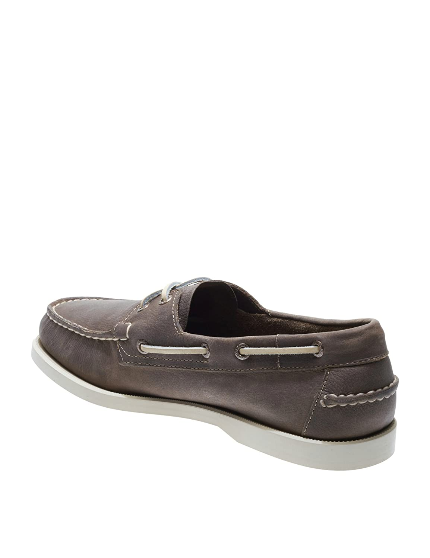Sebago Men's Docksides Dark Leder Dark Docksides Schuhes Beige 4dad5c