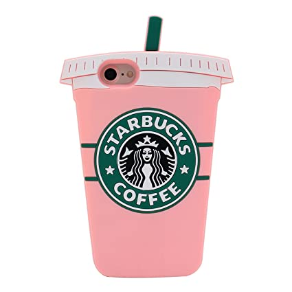 online store 53197 ec17a Pink Coffee Cup Case for iPhone 7 8 iPhone7 iPhone8 Regular Size 4.7